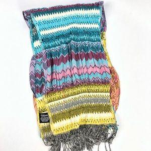 TOLANI Multi Colored 100 % VISCOSE Scarf Wrap NEW